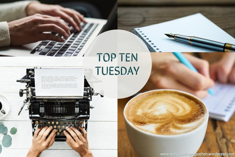 top ten tuesday header image words